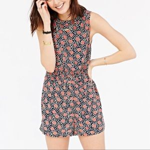 Urban Outfitters Poppy Floral Sleeveless Romper XS